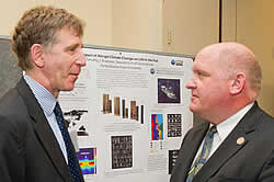 Timothy Bralower (Penn State) with Rep. Glenn Thompson (R-PA) at science exhibition on Capitol Hill.