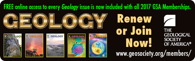 Geology Journal free for GSA Members in 2017!